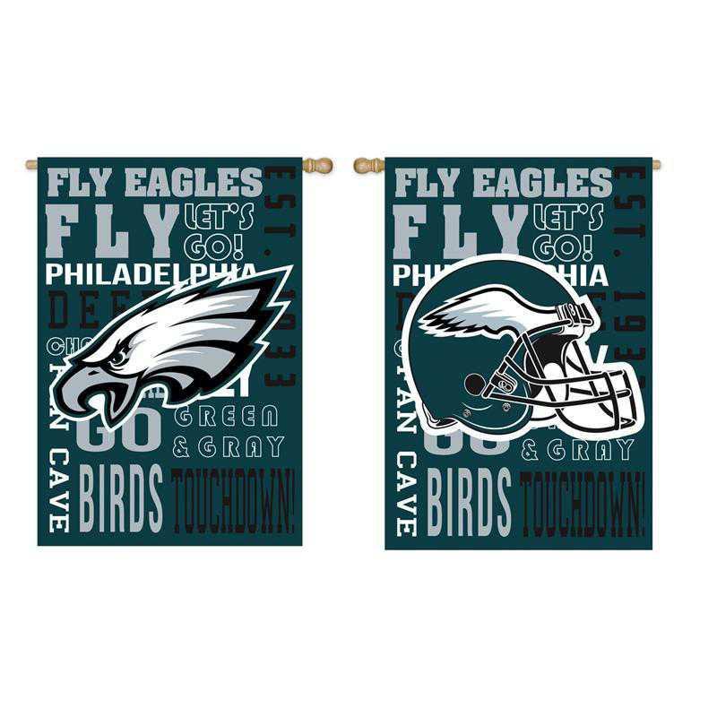 13ES3823FR: EG Fan Rules Flag' Philadelphia Eagles