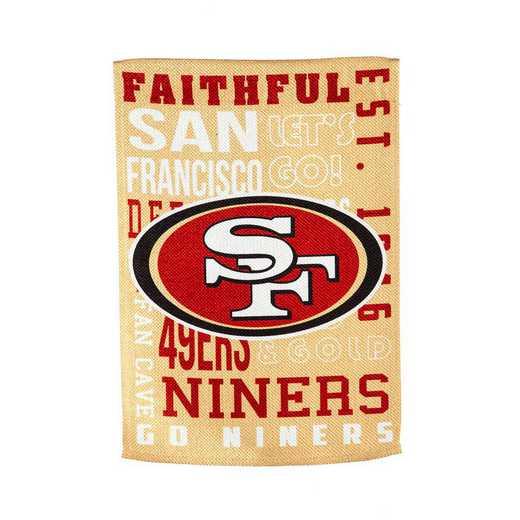 13ES3826FR: EG Fan Rules Flag' San Francisco 49ers