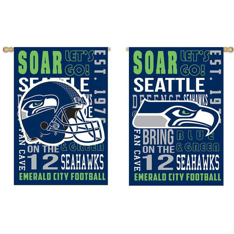 13ES3827FR: EG Fan Rules Flag' Seattle Seahawks