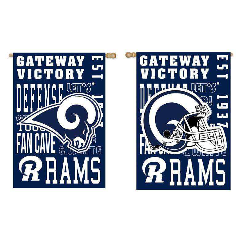 13ES3828FR: EG Fan Rules Flag' Los Angeles Rams