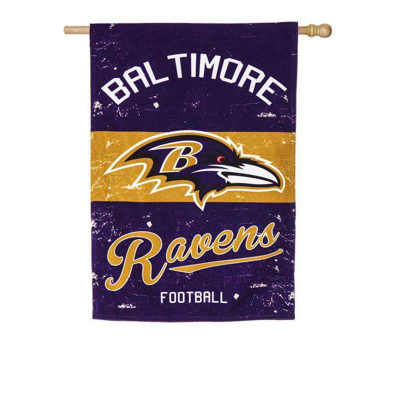 13L3802VINT: EG Vintage Linen Flag, Baltimore Ravens