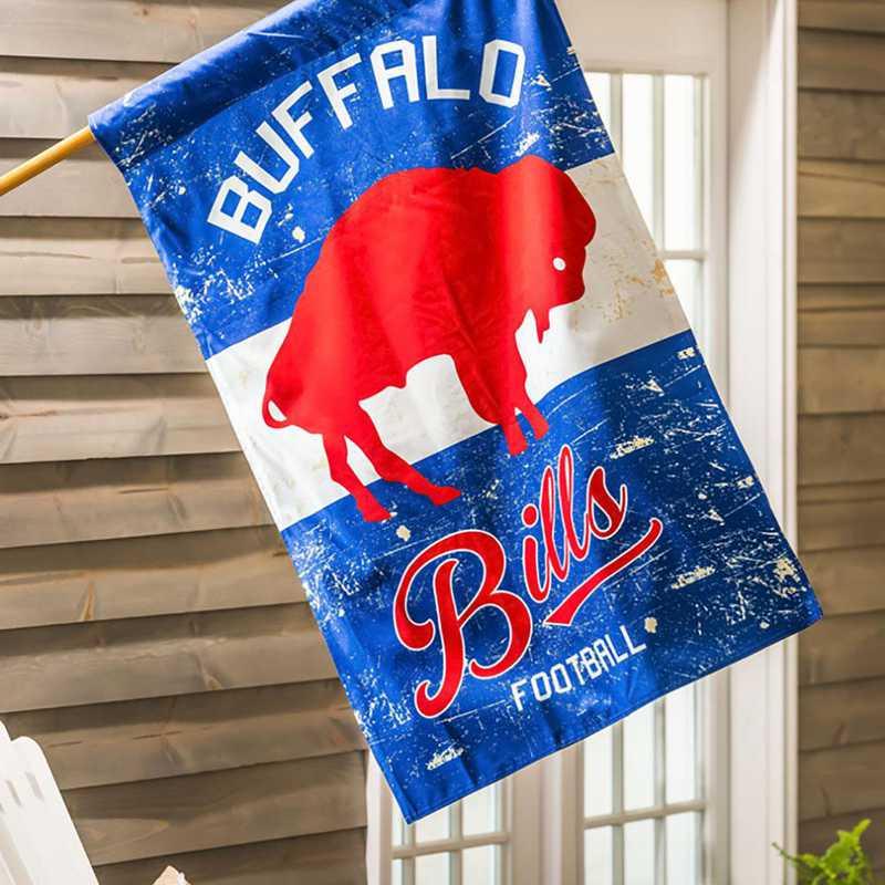13L3803VINT: EG Vintage Linen Flag, Buffalo Bills