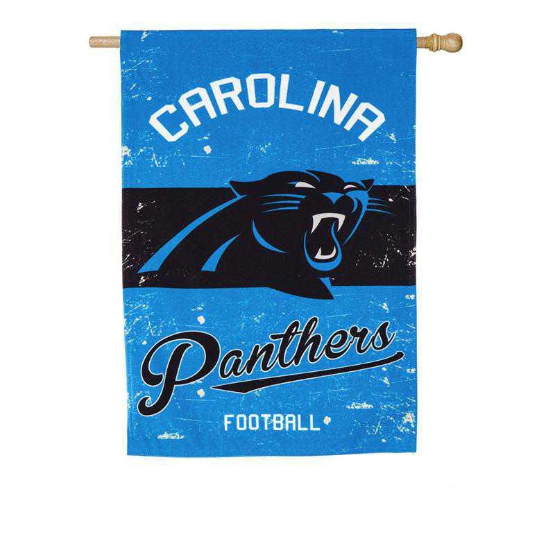 13L3804VINT: EG Vintage Linen Flag, Carolina Panthers