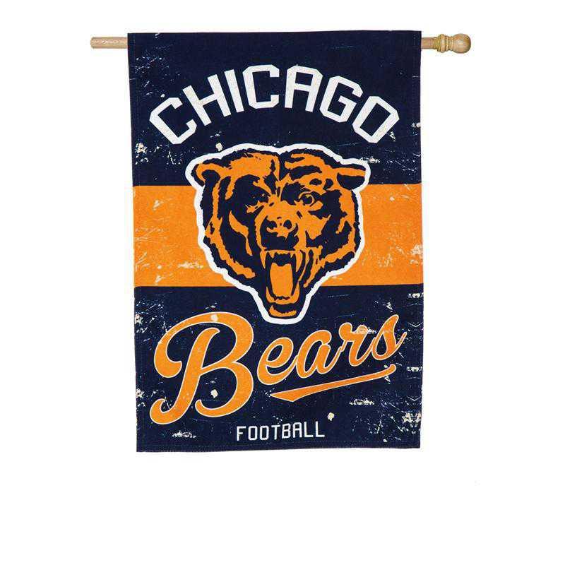 13L3805VINT: EG Vintage Linen Flag, Chicago Bears