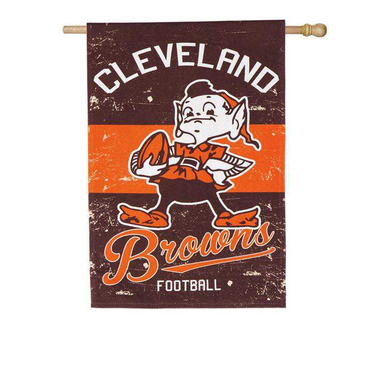 13L3807VINT: EG Vintage Linen Flag, Cleveland Browns