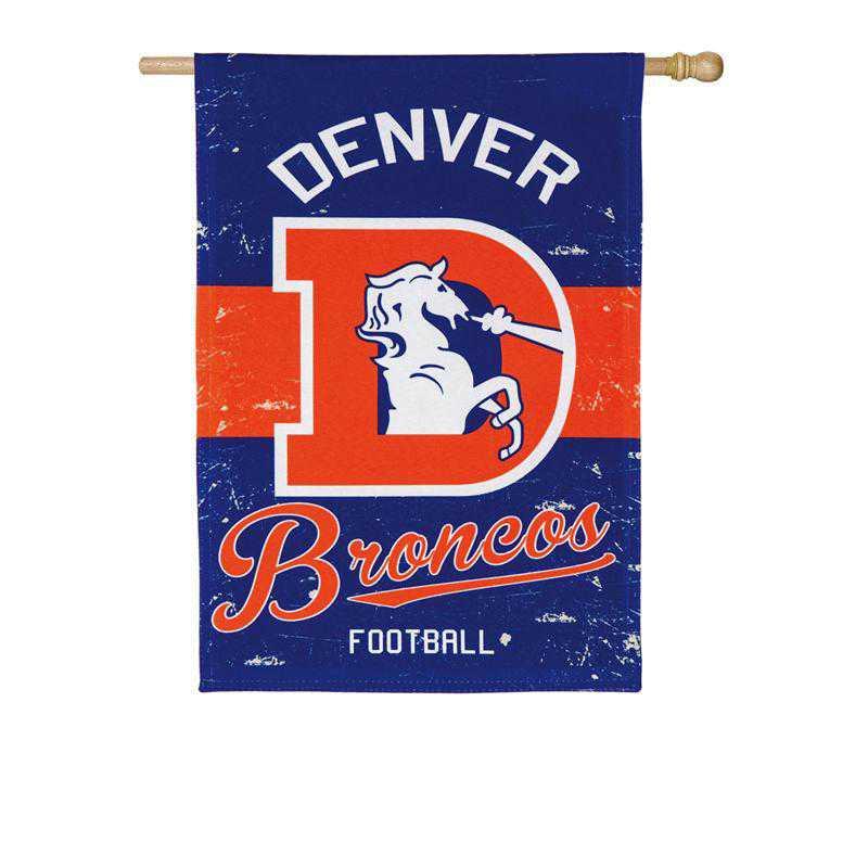 13L3809VINT: EG Vintage Linen Flag, Denver Broncos