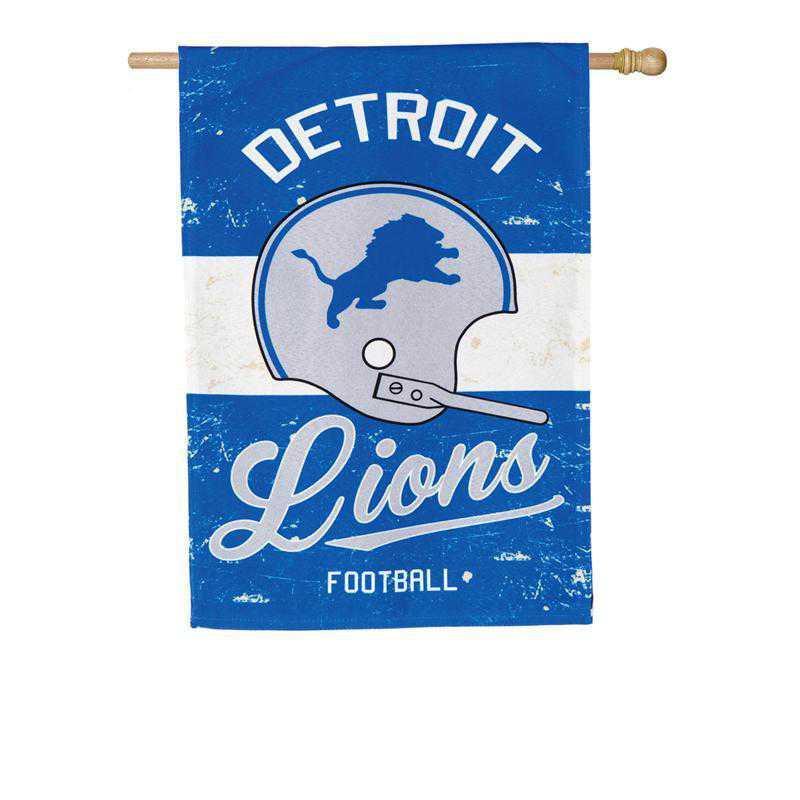 13L3810VINT: EG Vintage Linen Flag, Detroit Lions