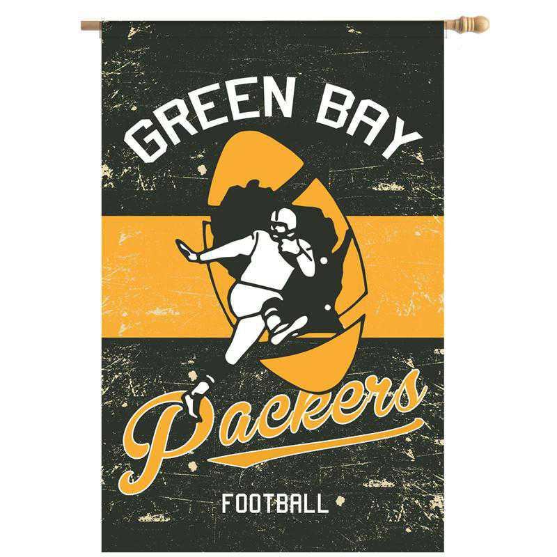 13L3811VINTB: EG Vintage Linen Flag, Green Bay Packers