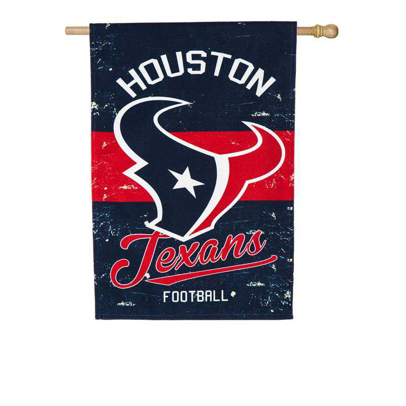 13L3812VINT: EG Vintage Linen Flag, Houston Texans