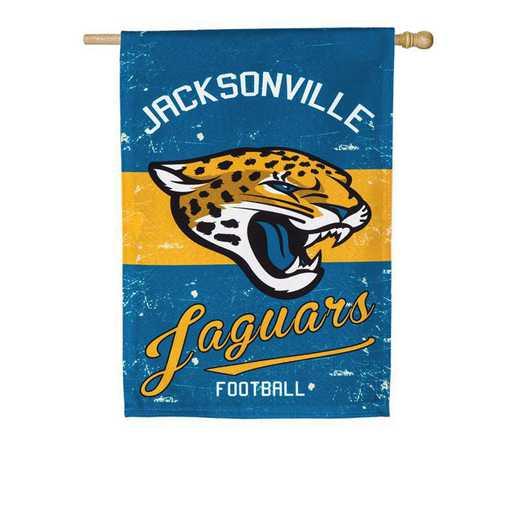 13L3814VINT: EG Vintage Linen Flag, Jacksonville Jaguars