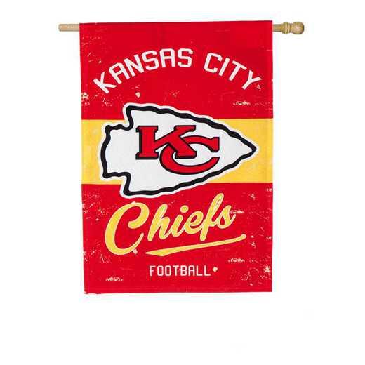 13L3815VINT: EG Vintage Linen Flag, Kansas City Chiefs
