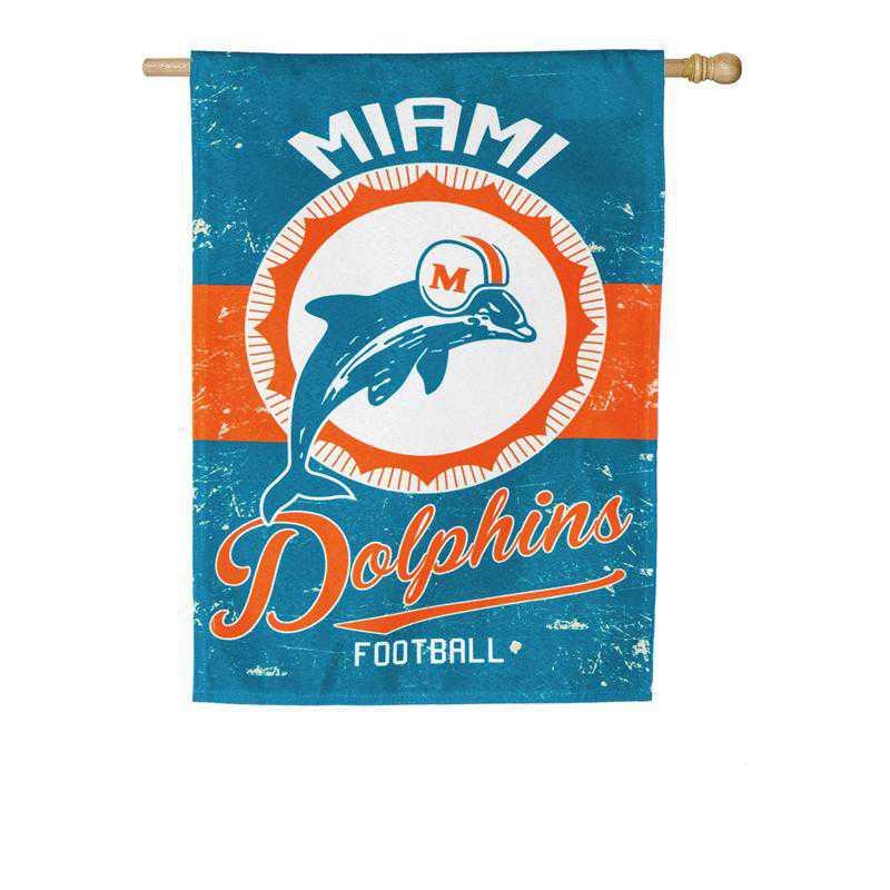 13L3816VINT: EG Vintage Linen Flag, Miami Dolphins