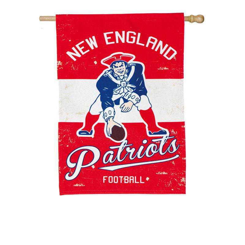 13L3818VINT: EG Vintage Linen Flag, New England Patriots