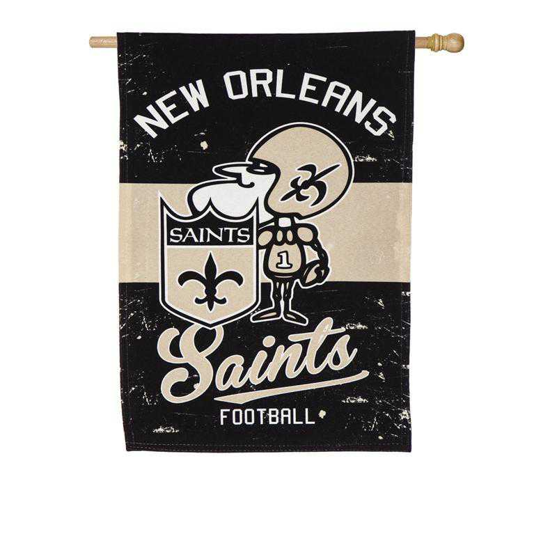 13L3819VINT: EG Vintage Linen Flag, New Orleans Saints