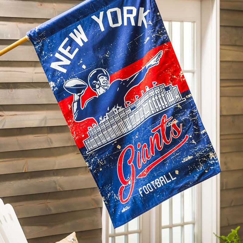 13L3820VINT: EG Vintage Linen Flag, New York Giants