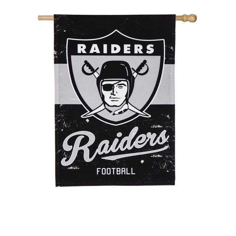 13L3822VINT: EG Vintage Linen Flag, Raiders