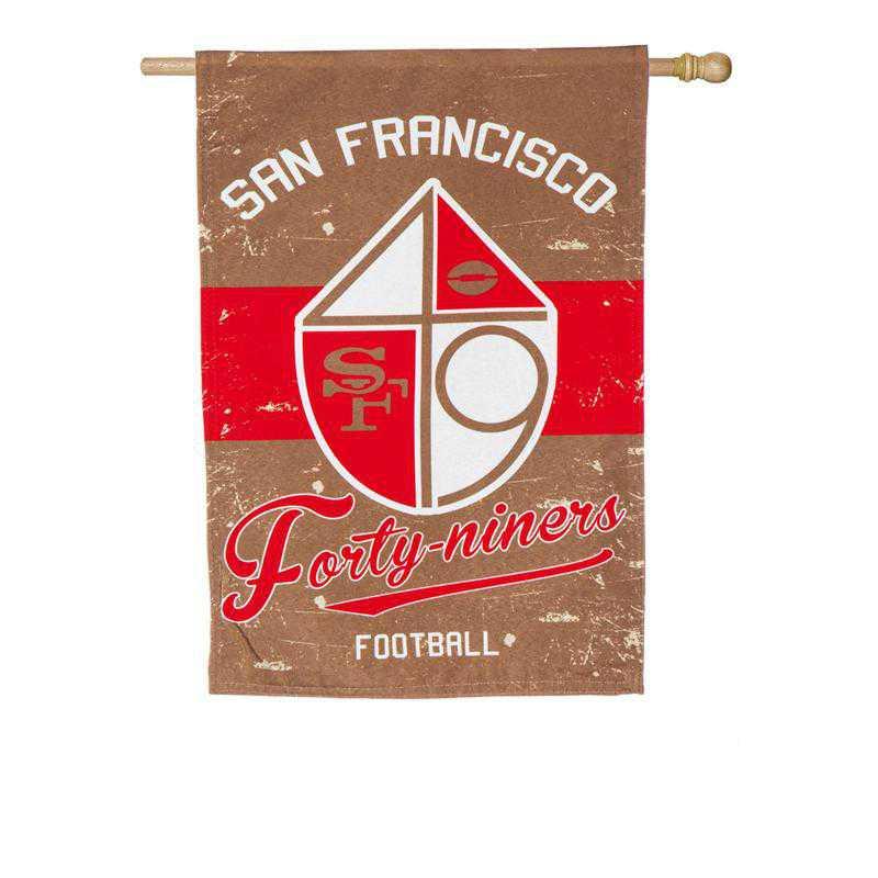 13L3826VINT: EG Vintage Linen Flag, San Francisco 49ers