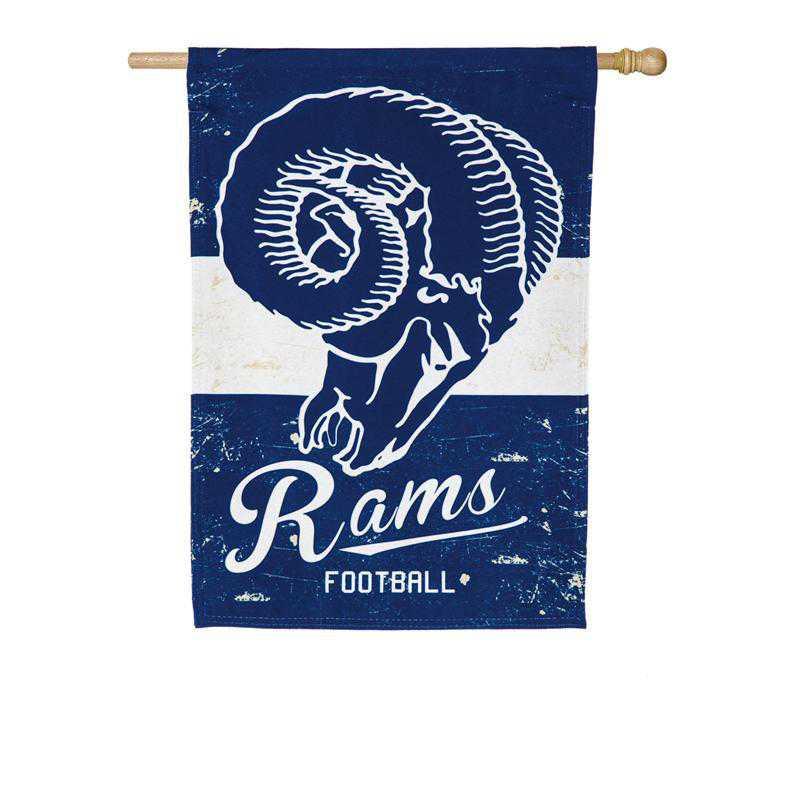 13L3828VINT: EG Vintage Linen Flag, LA Rams