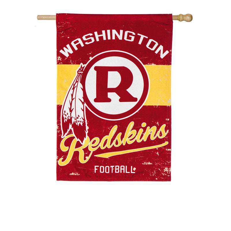 13L3831VINT: EG Vintage Linen Flag, Washington Redskins
