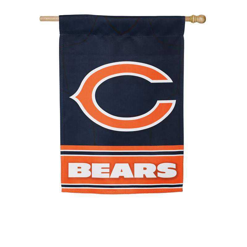 13S3805BLJ: ES Foil Jersey Flag, Chicago Bears