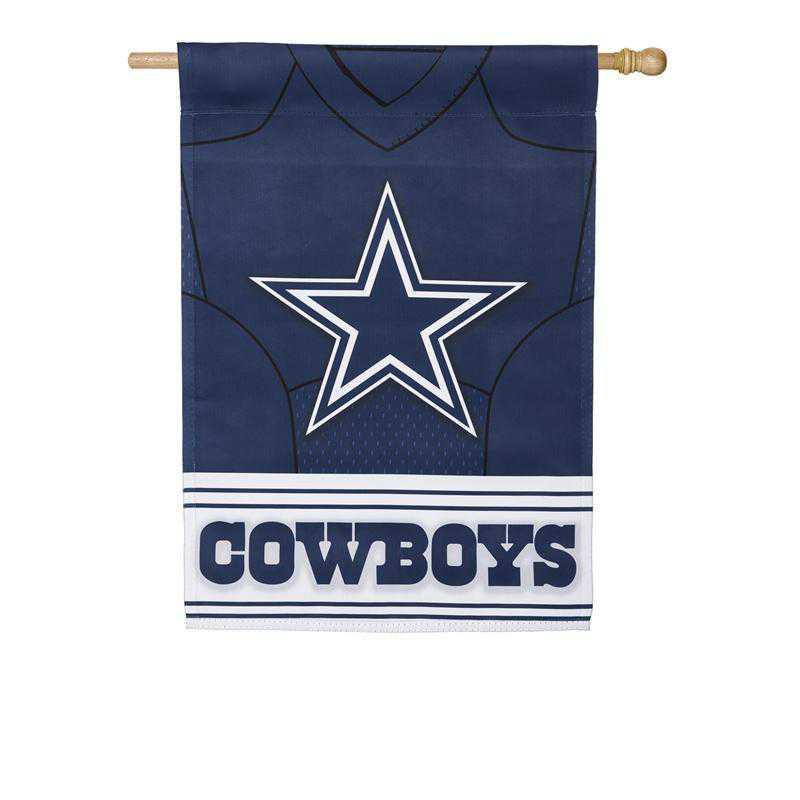 13S3808BLJ: ES Foil Jersey Flag, Dallas Cowboys