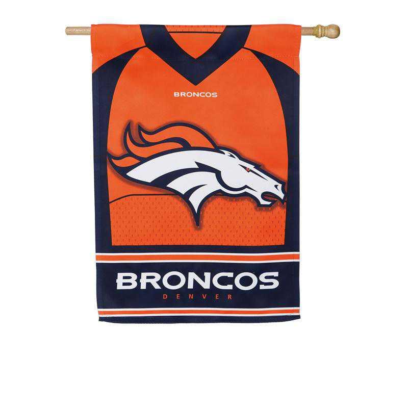 13S3809BLJ: ES Foil Jersey Flag, Denver Broncos