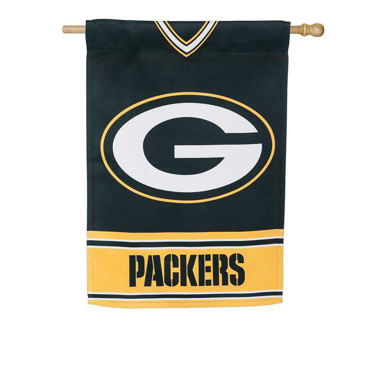 13S3811BLJ: ES Foil Jersey Flag, Green Bay Packers