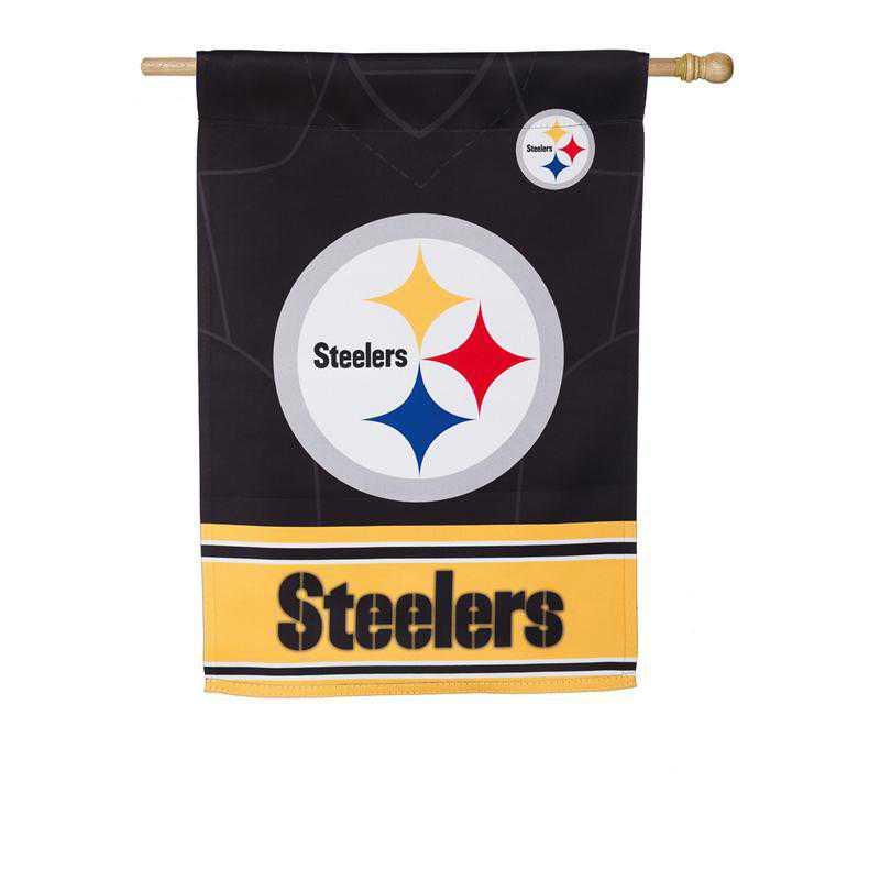 13S3824BLJ: ES Foil Jersey Flag, Pittsburgh Steelers