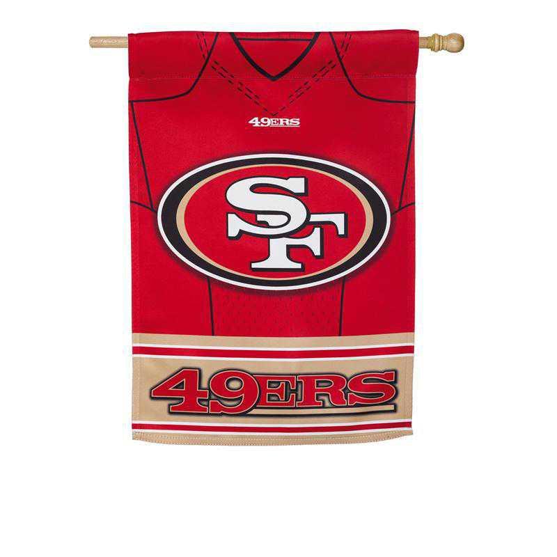 13S3826BLJ: ES Foil Jersey Flag, San Francisco 49ers