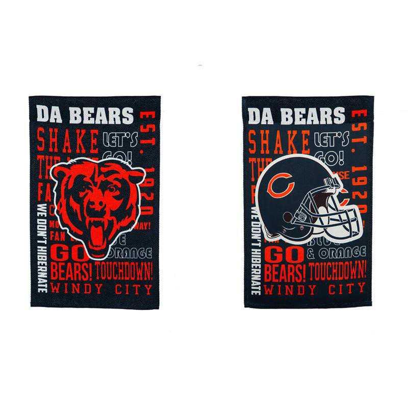 14ES3805FR: EG Fan Rules Garden Flag' Chicago Bears