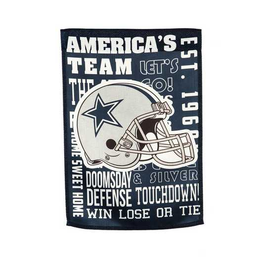 14ES3808FR: EG Fan Rules Garden Flag' Dallas Cowboys