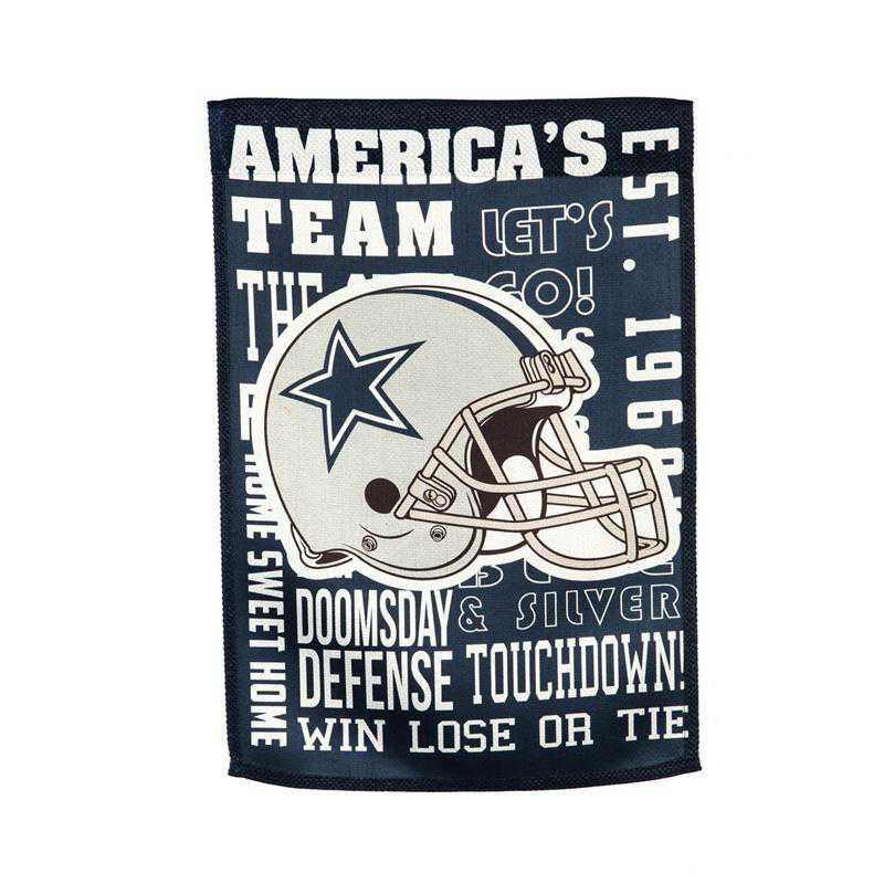14ES3808FR: EG Fan Rules Garden Flag' Dallas Cowboys