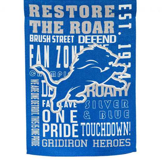 14ES3810FR: EG Fan Rules Garden Flag' Detroit Lions