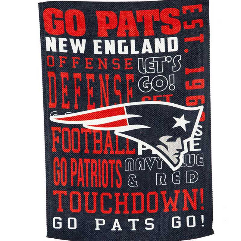 14ES3818FR: EG Fan Rules Garden Flag' New England Patriots