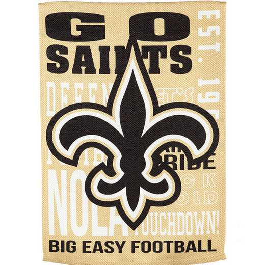 14ES3819FR: EG Fan Rules Garden Flag' New Orleans Saints