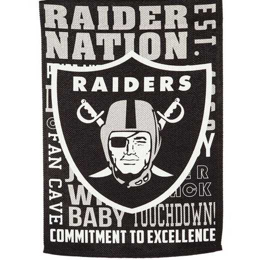 14ES3822FR: EG Fan Rules Garden Flag' Oakland Raiders