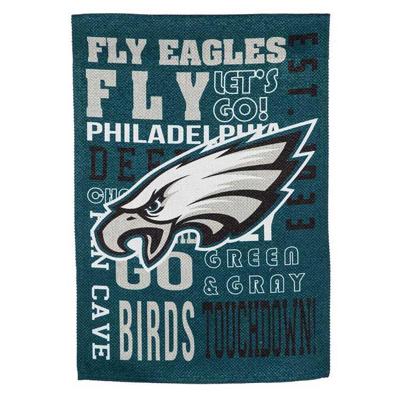 14ES3823FR: EG Fan Rules Garden Flag' Philadelphia Eagles