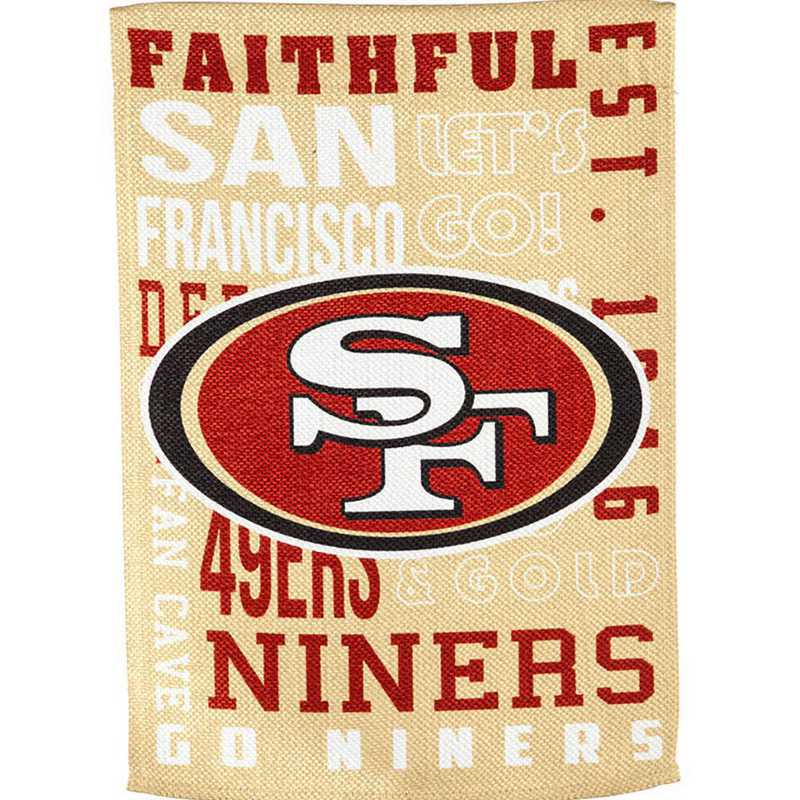 14ES3826FR: EG Fan Rules Garden Flag' San Francisco 49ers
