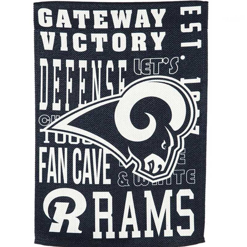 14ES3828FR: EG Fan Rules Garden Flag' Los Angeles Rams