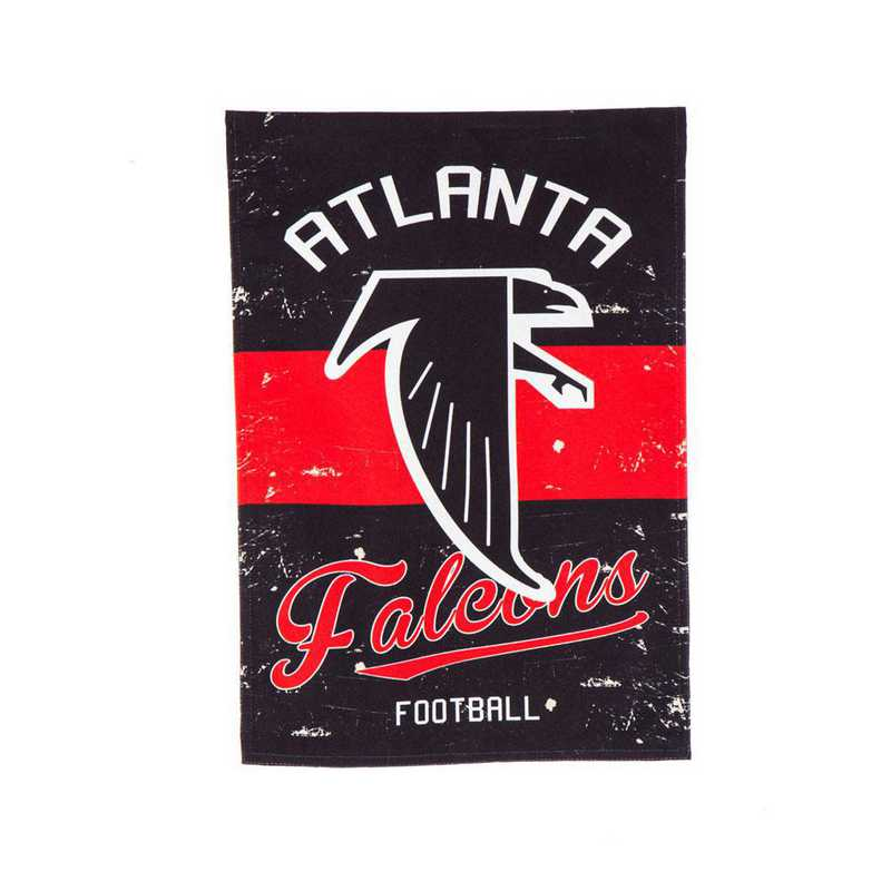 14L3801VINT: EG Vintage Linen Garden Flag, Atlanta Falcons