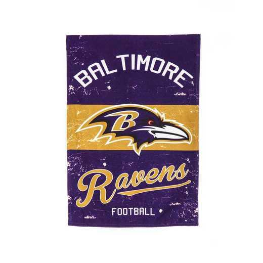 14L3802VINT: EG Vintage Linen Garden Flag, Baltimore Ravens