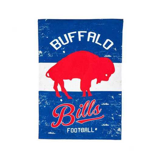14L3803VINT: EG Vintage Linen Garden Flag, Buffalo Bills