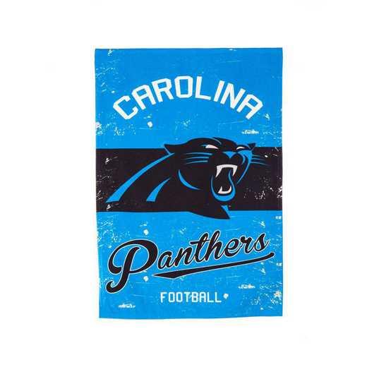 14L3804VINT: EG Vintage Linen Garden Flag, Carolina Panthers