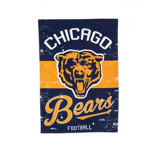 14L3805VINT: EG Vintage Linen Garden Flag, Chicago Bears