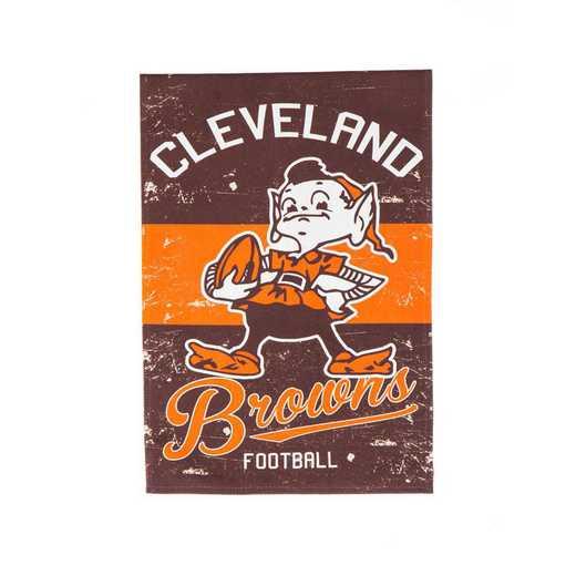 14L3807VINT: EG Vintage Linen Garden Flag, Cleveland Browns