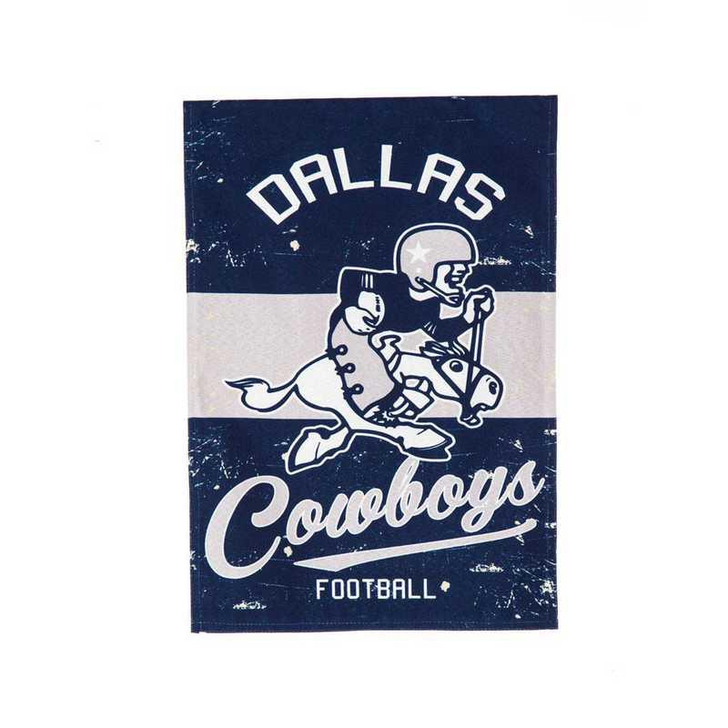 14L3808VINT: EG Vintage Linen Garden Flag, Dallas Cowboys