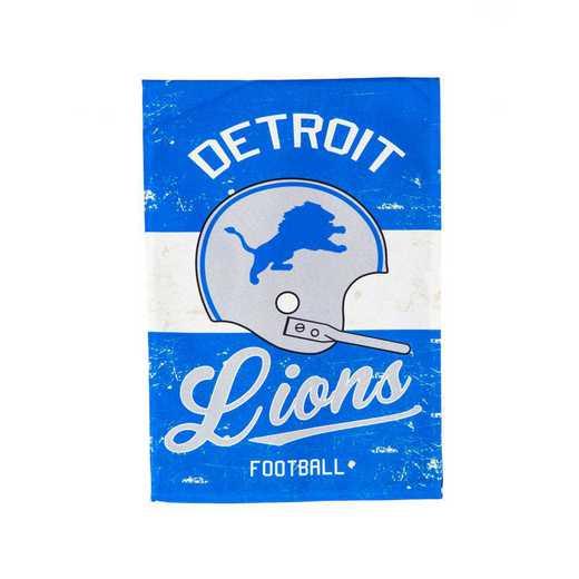 14L3810VINT: EG Vintage Linen Garden Flag, Detroit Lions
