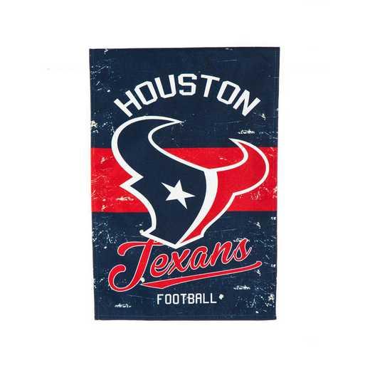 14L3812VINT: EG Vintage Linen Garden Flag, Houston Texans