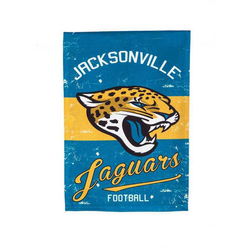 14L3814VINT: EG Vintage Linen Garden Flag, Jacksonville Jaguars
