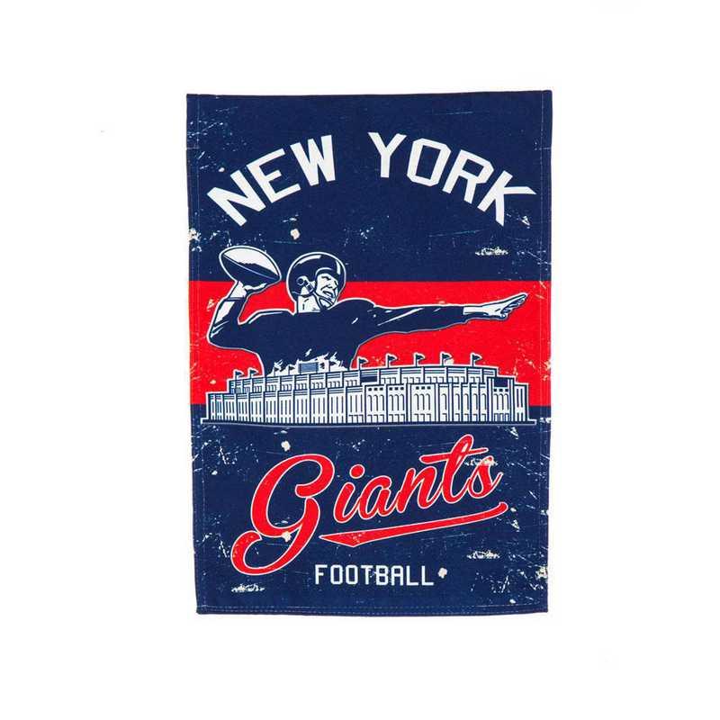 14L3820VINT: EG Vintage Linen Garden Flag, New York Giants